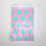 25 PCS Blue Color Polka Dots Paper Bags