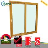 Sound Proof PVC Plastic Woodgrain Double Glazing Sliding Door Australia
