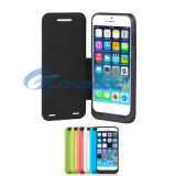 """3500mAh Power Backup Battery Charger Case with Front Leather Cover for iPhone 6/6s 4.7"""""""
