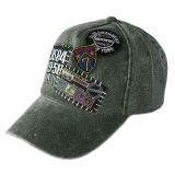 Washed Baseball Cap With Patch Embroidery (JRW011)