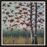 Home Decoration Knife Autumn Maple Tree Oil Painting on Canvas (LH-024000)