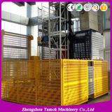 Construction Hoist Double Cage 2ton Loading Capacity Construction Lifter