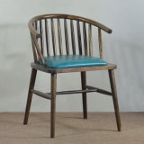 (SP-EC628) Commercial Rustic Wood Vintage Arm Chair for Restaurant