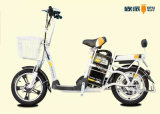 Moped Electric Bike with Basket, Electric Scooter Bike for Adults