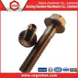 Brone Carbon Steel Hex Flange Bolt M12 Brass