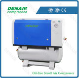Energy Saving Oil Free Scroll Air Compressor with Air Tank