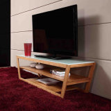 Modern Bamboo TV Rack with Cabinet