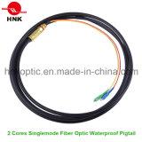 2 Cores Outdoor Fiber Optic Waterproof Pigtail
