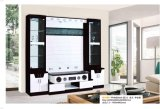 Modern Hotel Furniture Mirrored TV Stand Wooden