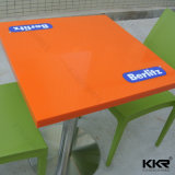 Fast Food Furniture 2 Seater Square Dining Table for Kfc