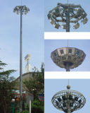 15m 18m 20m 25m 30m 35m High Mast Lighting Pole with Automatic Lifting System