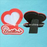 Custom Heart-Shaped Rubberized PVC Photo Frame (ele-PF01)