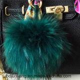 2016 POM Animal Fur Ball Keychain Real Raccoon Fur POM Fur Balls
