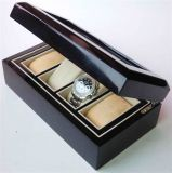 Black Gloss Wood Watch Display Case (LWW0007)