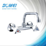 Sink Wall Mixer: Double Handle; Kitchen Mixer; Wall-Mounted