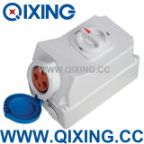 63A Industrial Connector Socket with Switches