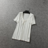 Fashion Style Modal Cotton Pleated Women T Shirt