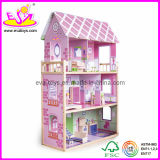 Wooden Dollhouse with Furnitures Toy (W06A013)