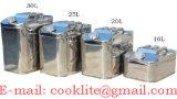 Edelstahl Wasserkanister / Edelstahl Olkanister / Stahlblech Wasserkanister / Stahlblech Olkanister