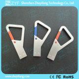 Custom Logo Metal Triangle Carabiner Hook 8GB USB Stick (ZYF1735)
