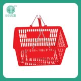Rolling Plastic Supermarket Shopping Basket