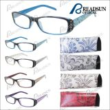 Lady Mini Reading Glasses with Rhinestone and Match Pouch (RP463031)