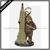 King Kong Metal Zipper Pull for Necklace Pendant (BYH-10407)