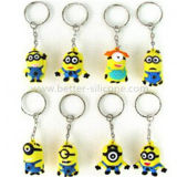Eco-Friendly Popular 3D Design Silicone Keyrings