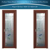 Aluminium Hinged/Casement/Bathroom Door with Double Layer Tempered