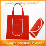 Plastic Button Non Woven Foldable Reuseable Shopping Bag