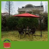 Red Brown Color Side Pole Garden Umbrella