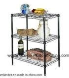 Adjustable Metal Epoxy Coated Wire Bath Shelf Rack (LD603560B3E)