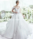 off Shoulder Lace Wedding Dress Fashion Vestidos Luxury Bridal Ball Gown LD11539