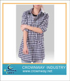 Casual Check Shirt in Long Length for Women