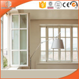 Italy Chiari Client Aluminum Clad Solid Oak Wood Casement Window, Wood Aluminum Window with Beautiful Grilles