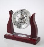 Factory Made Wooden Desk Clock K8041 Skeleton Clock Kit Business Souvenir Giveaways