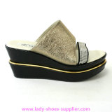 Drilling PU Lady Wedge Sandals, Fashion Sandals (HT1202-8)