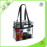 Clear Plastic 12 X 12 X 6 NFL Stadium Approved Tote Bag with Black Handles
