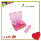 Detachable Big Capacity Plastic 6 Compartments Pill Box