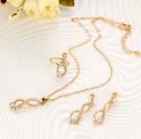 Wholesale Gold Chain Crystal Pendant Jewellery Necklace Set