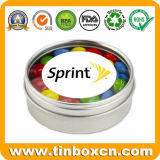 Mini Small Candy Mints Tin Box with Clear Transparent Window