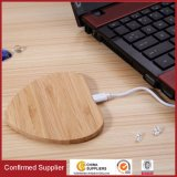 Bamboo Qi Charging Pad Wireless Charger for iPhone 8/8 Plus