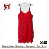 Wholesale Fashion Red Lady Lace Braces Skirt