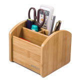Small Size Bamboo Color 4 Slots Wood Pen Stand