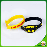 Debossed Color Filled Custom Logo Silicone Mosquito Repellent Wristband