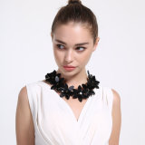 Fashion Jewelry Plastic Flower Lacing Bow Pendant Necklace