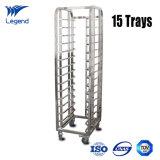 15 Trays Restaurant Stainless Steel Shelving Rack for Kitchen