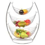 3 Tiers Decoratival Boat Shape Fruit Basket
