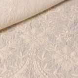 Double Scalloped Edge Solid Cotton Embroidery Lace Fabric