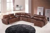 Genuine Leather Recliner Sofa (854)
